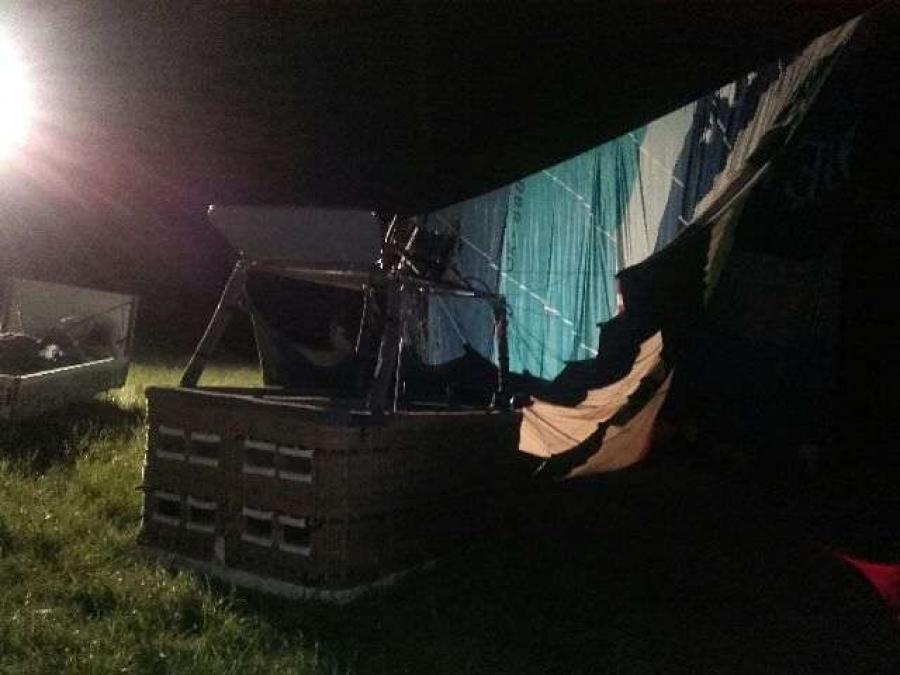 Nehoda teplovzdušného balóna, foto 1