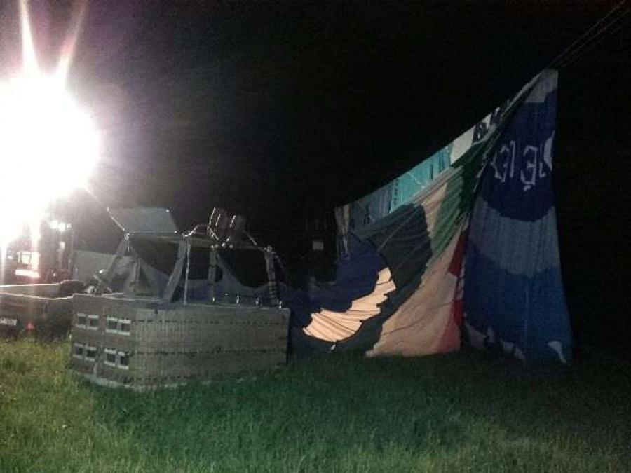 Nehoda teplovzdušného balóna, foto 2