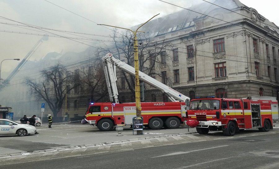 Požiar Daňového úradu v Košiciach, foto 4