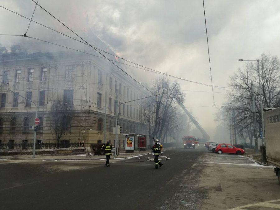 Požiar Daňového úradu v Košiciach, foto 2