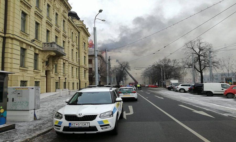 Požiar Daňového úradu v Košiciach, foto 5