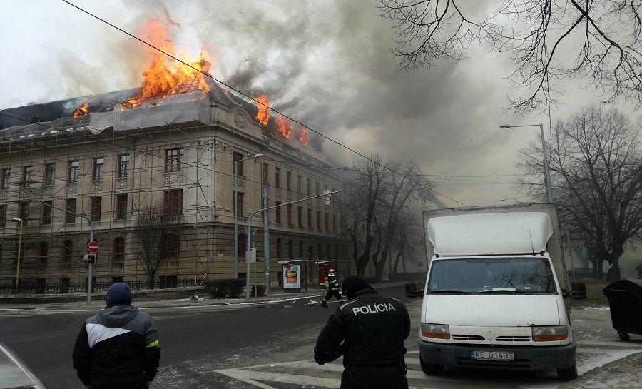 Požiar Daňového úradu v Košiciach, foto 1