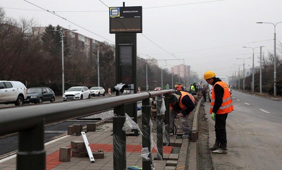Práce na stavbe modernizácie električkových tratí v Košiciach, foto 4