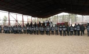 Cvičenie jazdnej polície v Košiciach