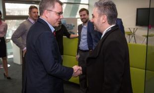 Rastislav Trnka na návšteve v T-Systems Slovakia