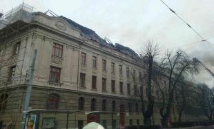 Požiar Daňového úradu v Košiciach