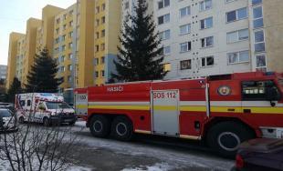 Požiar na Matuškovej ulici v Košiciach